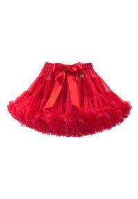LaVashka Spódnica 12-B Czerwony Regular Fit. Kolor: czerwony