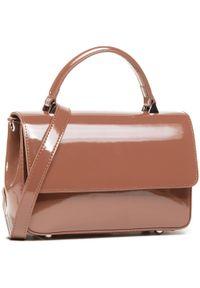 Brązowa torebka klasyczna Gino Rossi lakierowana
