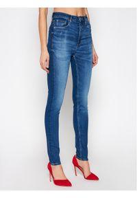 Guess Jeansy W1RA26 D4AO3 Niebieski Super Skinny Fit. Kolor: niebieski