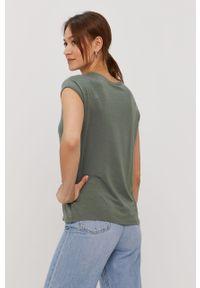 Bluzka Vero Moda gładkie, casualowa
