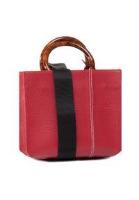 Czerwona torebka klasyczna Unisa klasyczna