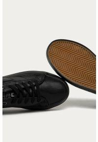 Czarne buty sportowe Big-Star z cholewką, na sznurówki