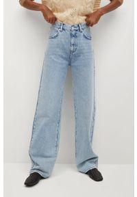 Niebieskie jeansy mango z podwyższonym stanem, na co dzień