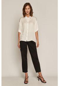 Biała koszula medicine gładkie, klasyczna