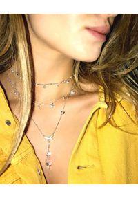 SIN BY MANNEI - Srebrny Naszyjnik Fly High. Materiał: srebrne. Kolor: srebrny. Wzór: aplikacja. Kamień szlachetny: cyrkonia