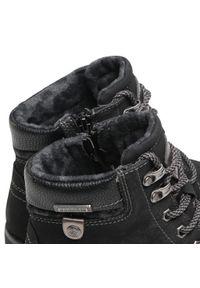 Czarne buty trekkingowe Dockers