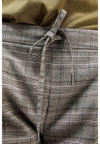 Szare spodnie MOODO długie, w kratkę