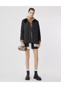 Czarna kurtka Burberry vintage, długa, z długim rękawem