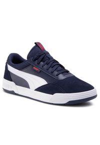 Niebieskie sneakersy Puma na co dzień, z cholewką