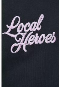 Local Heroes - Bluza. Typ kołnierza: kaptur. Kolor: czarny. Materiał: materiał. Wzór: aplikacja