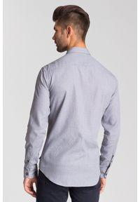 Szara koszula Armani Collezioni na spotkanie biznesowe, biznesowa, na lato