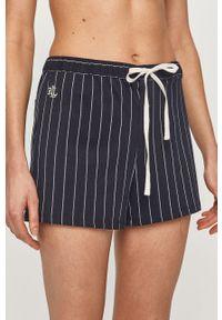 Lauren Ralph Lauren - Szorty piżamowe. Kolor: niebieski. Materiał: tkanina