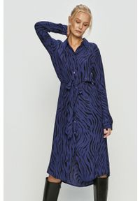Niebieska sukienka Vila prosta, midi, casualowa, na co dzień