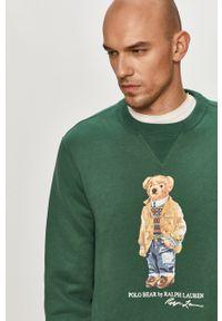 Zielona bluza nierozpinana Polo Ralph Lauren z nadrukiem, casualowa, na co dzień, polo
