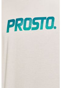 Biały t-shirt Prosto. z nadrukiem, casualowy, na co dzień
