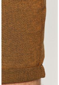 Brązowe szorty PRODUKT by Jack & Jones melanż, casualowe, na co dzień