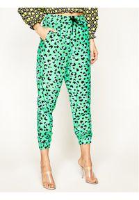 Zielone spodnie materiałowe Love Moschino