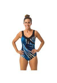 NABAIJI - Strój Jednoczęściowy Do Gimnastyki W Wodzie Karli Tree Damski. Kolor: niebieski. Materiał: dzianina, materiał