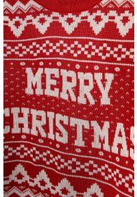 Czerwony sweter Jack & Jones casualowy, na co dzień