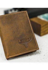 BUFFALO WILD - Skórzany portfel męski j. brązowy Buffalo Wild RM-07-HBW TAN. Kolor: brązowy. Materiał: skóra