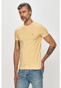 Żółty t-shirt TOMMY HILFIGER casualowy, na co dzień