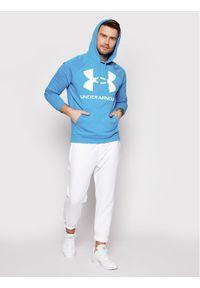 Under Armour Bluza Ua Rival Fleece Big Logo 1357093 Niebieski Loose Fit. Kolor: niebieski