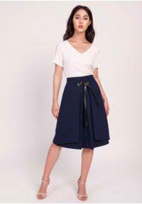 Niebieska spódnica trapezowa Lanti