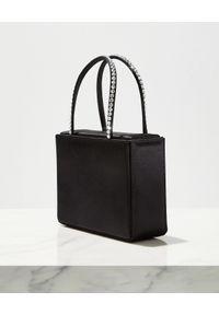 AMINA MUADDI - Czarna torebka Super Amini Gilda. Kolor: czarny. Styl: wizytowy