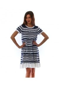 Biała sukienka TwinSet mini, klasyczna