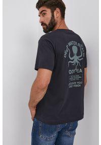 s.Oliver - s. Oliver - T-shirt bawełniany. Okazja: na co dzień. Kolor: niebieski. Materiał: bawełna. Wzór: nadruk. Styl: casual