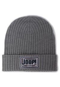 JOOP! Jeans - Czapka JOOP! JEANS - Laros 30017707 041. Kolor: szary. Materiał: materiał, wełna, poliakryl