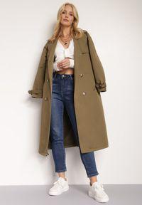 Renee - Granatowe Jeansy Regular Savvates. Stan: podwyższony. Kolor: niebieski. Długość: długie. Wzór: aplikacja #4