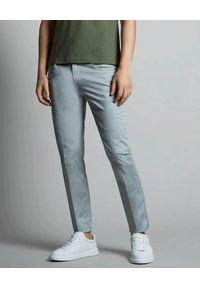 FAY - Szare bawełniane spodnie. Kolor: szary. Materiał: bawełna. Długość: długie. Wzór: aplikacja