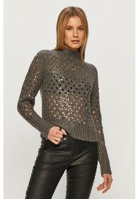 Szary sweter Silvian Heach z długim rękawem, na co dzień, klasyczny, długi