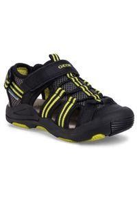 Czarne sandały Geox na lato