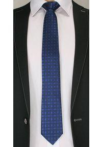 Niebieski krawat Chattier elegancki, w kwiaty