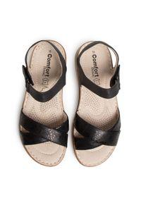 Czarne sandały Comfort Basic na co dzień, casualowe