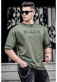 Brązowy t-shirt IVET casualowy, z nadrukiem, na co dzień