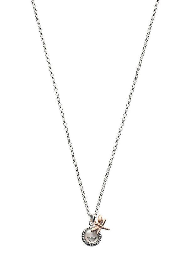 Srebrny naszyjnik Emporio Armani metalowy