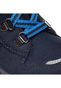 Niebieskie buty zimowe Superfit na spacer, z cholewką