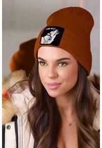 Brązowa czapka IVET na zimę