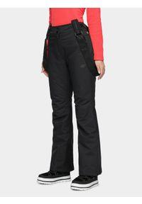 Czarne spodnie narciarskie 4f na zimę, Dermizax
