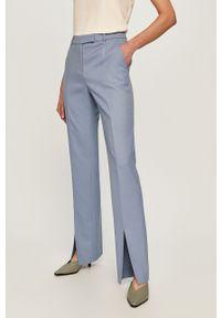 Niebieskie spodnie materiałowe Hugo z podwyższonym stanem