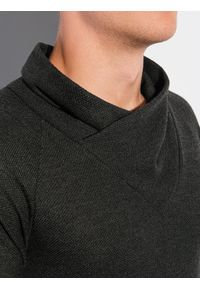 Ombre Clothing - Bluza męska bez kaptura B1222 - khaki - XXL. Typ kołnierza: bez kaptura. Kolor: brązowy. Materiał: poliester, elastan, akryl #2