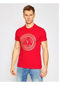 Czerwony t-shirt Versace Jeans Couture