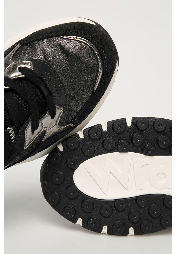Szare buty sportowe Wrangler na sznurówki, z cholewką