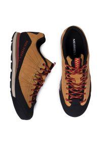 Brązowe buty trekkingowe Merrell trekkingowe, z cholewką