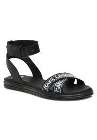 Czarne sandały Karl Lagerfeld