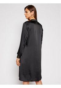 Czarna sukienka Nissa koszulowa