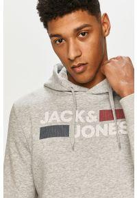 Szara bluza nierozpinana Jack & Jones casualowa, z kapturem